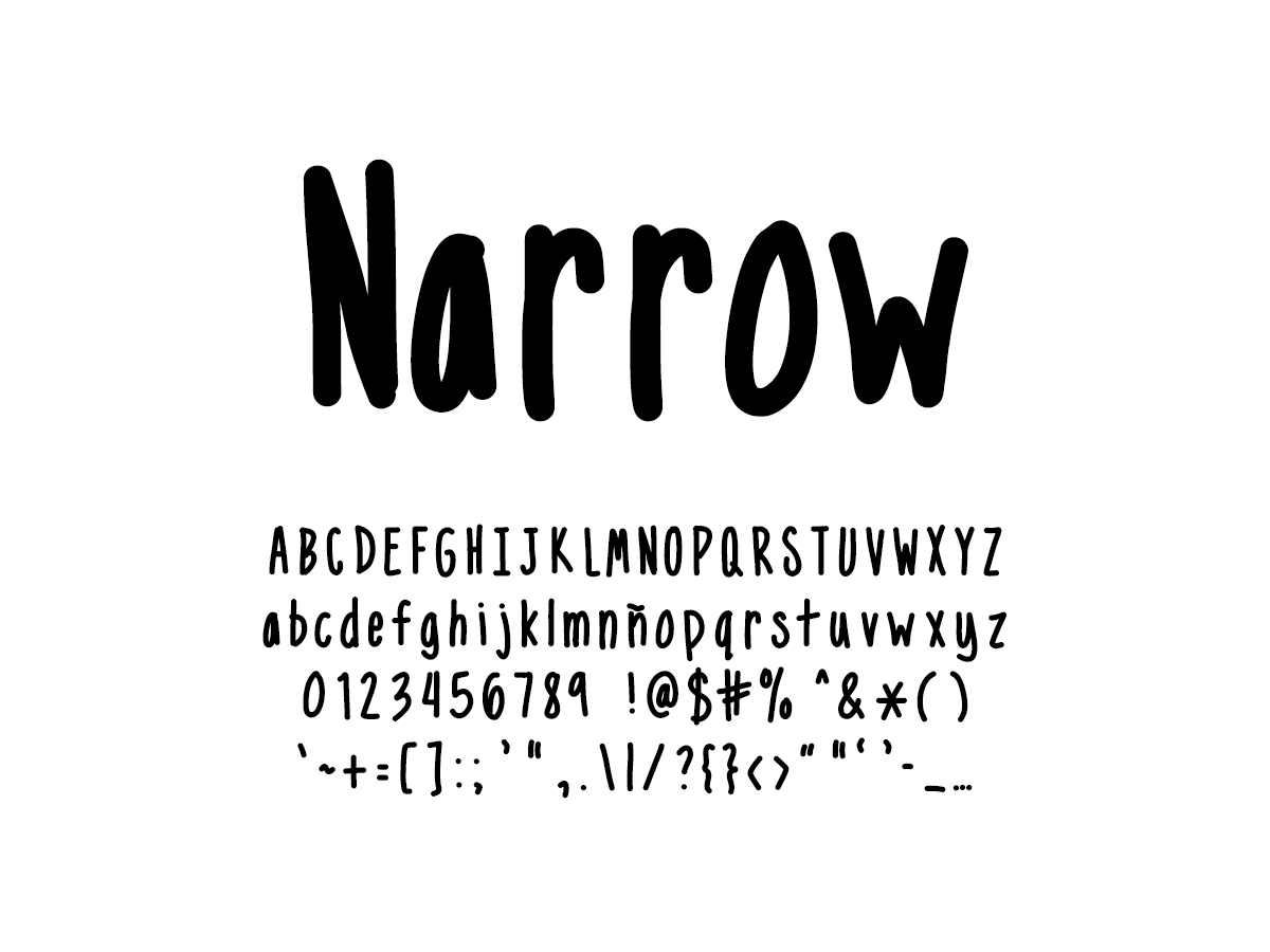 Mix Narrow - Handwritten Fonts by Mikko Sumulong