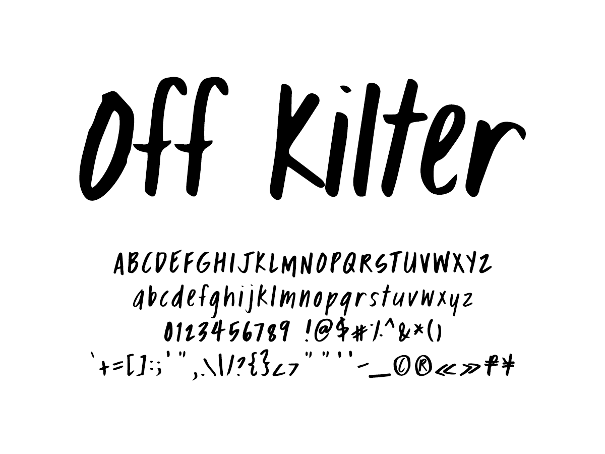 Mix Off Kilter - Handwritten Fonts by Mikko Sumulong