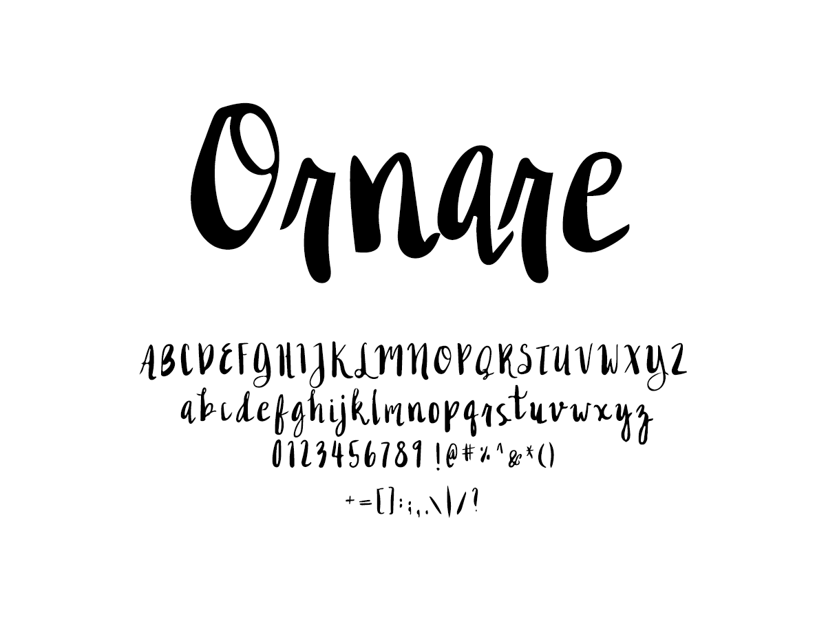 Mix Ornare - Handwritten Fonts by Mikko Sumulong