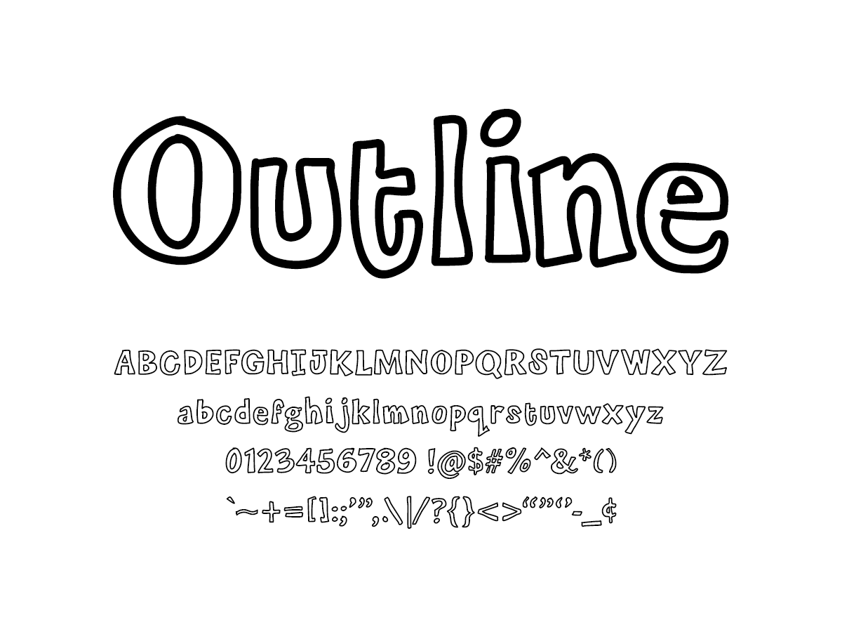Mix Outline - Handwritten Fonts by Mikko Sumulong