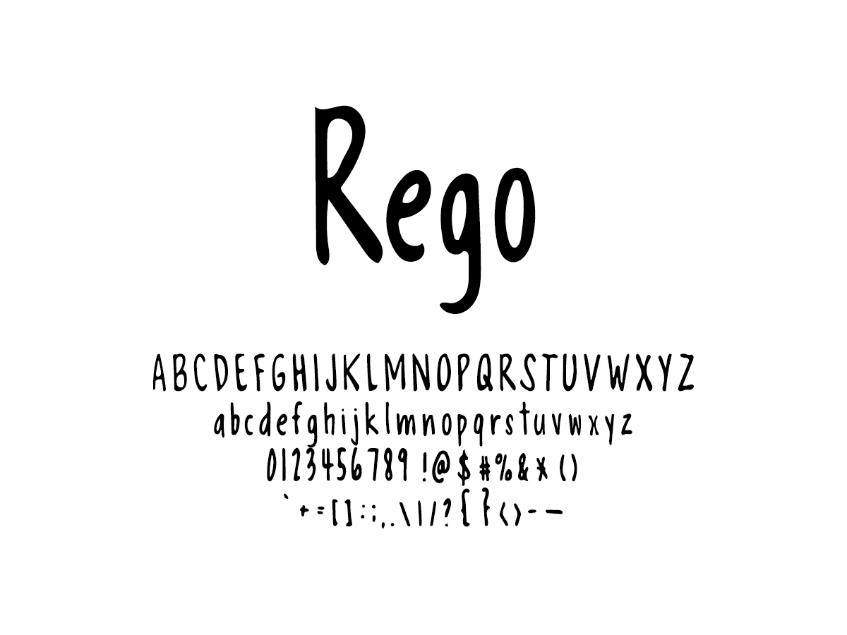 Mix Rego - Handwritten Fonts by Mikko Sumulong