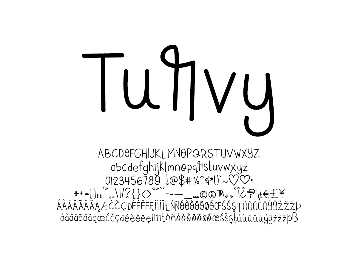 Mix Turvy - Handwritten Fonts by Mikko Sumulong