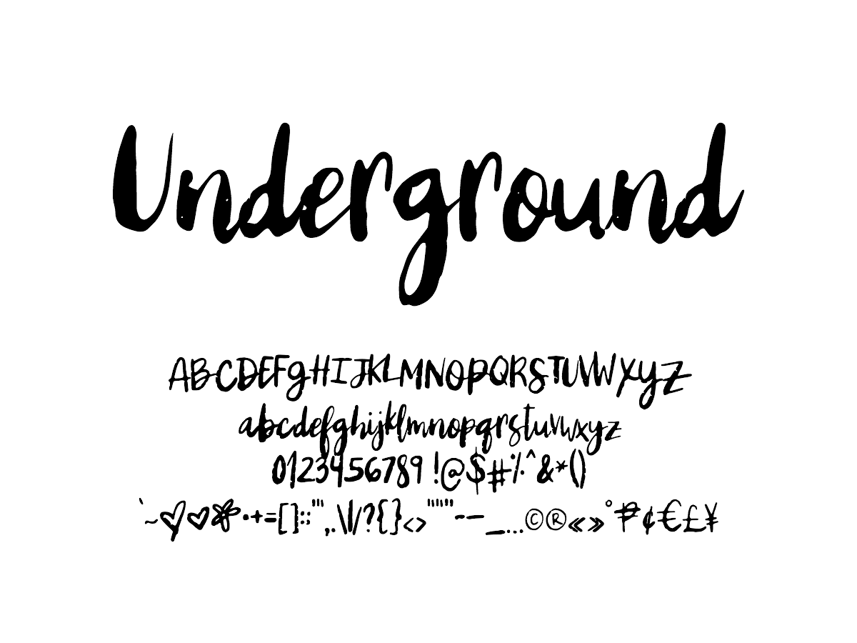 Mix Underground - Handwritten Fonts by Mikko Sumulong