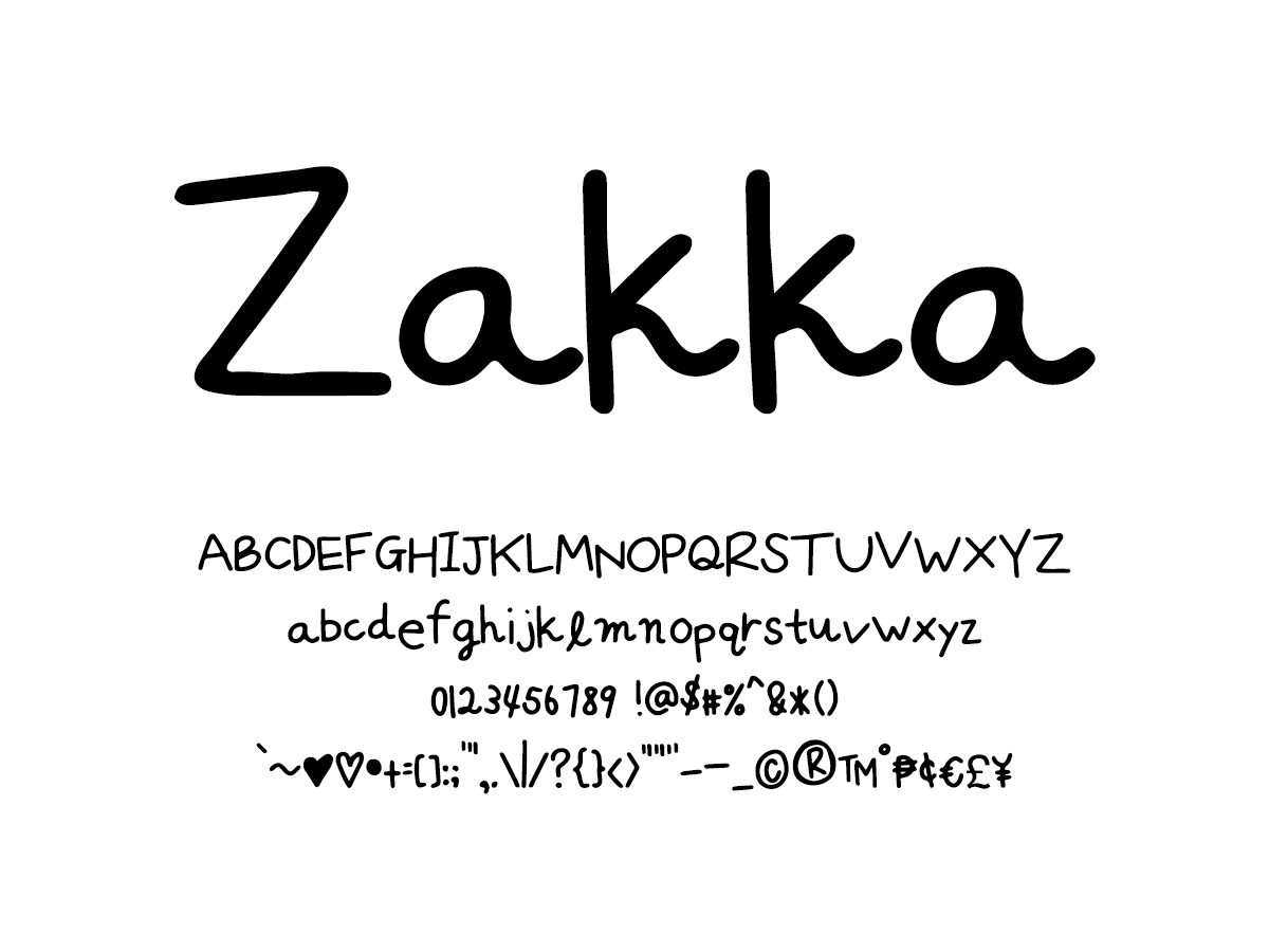 Mix Zakka - Handwritten Fonts by Mikko Sumulong