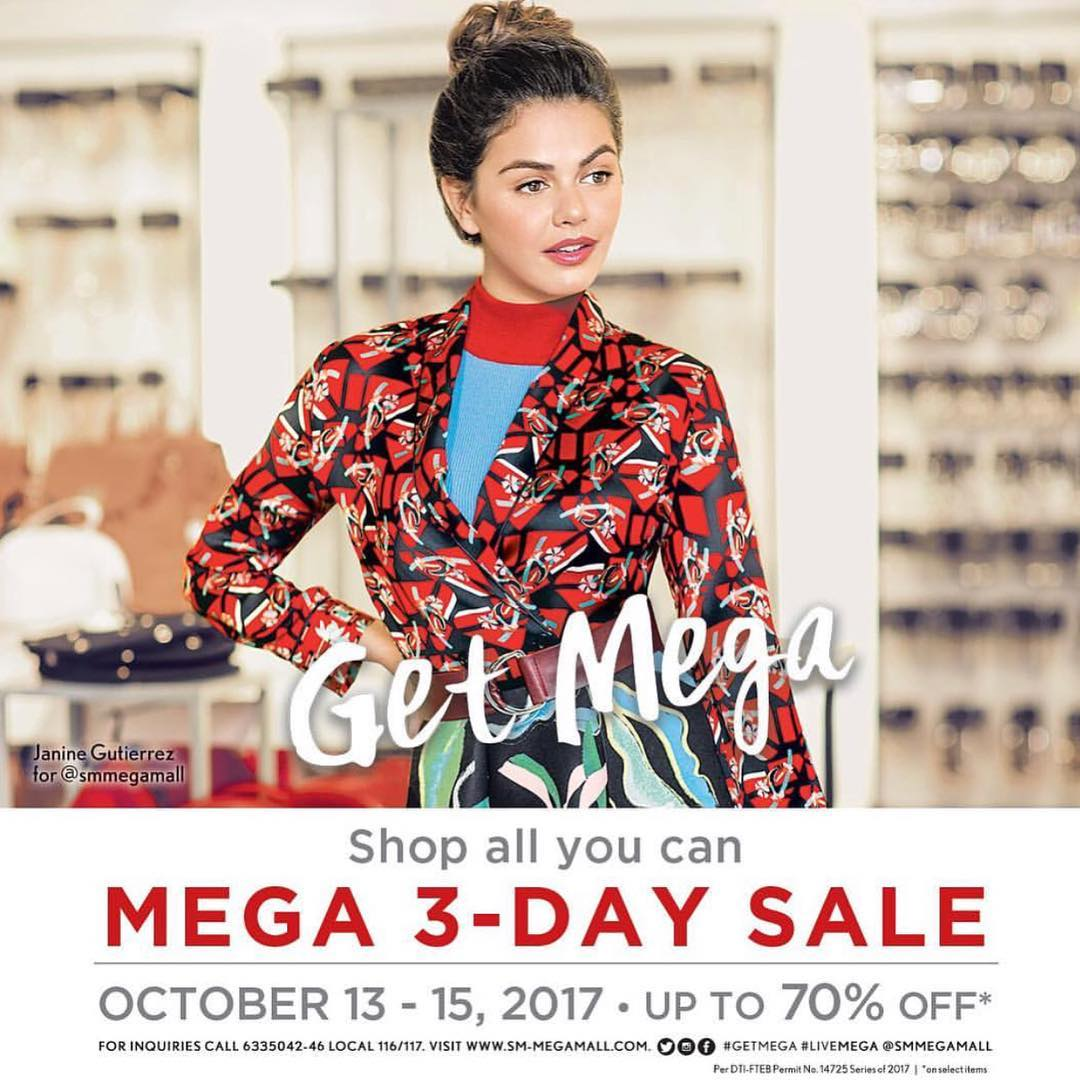 Mix Fickle on SM Megamall's Mega 3-Day Sale Instagram Post