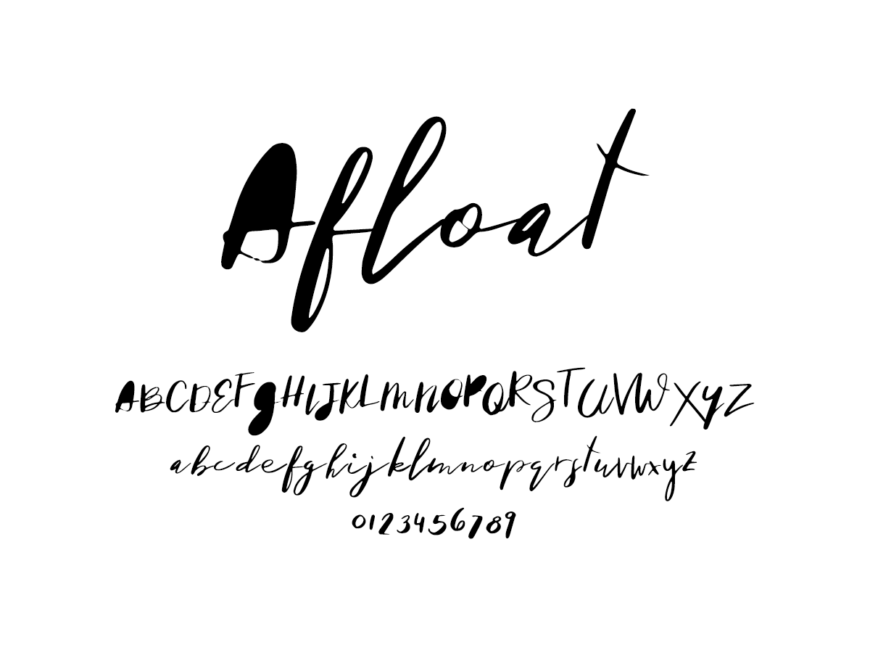 Mix Afloat - Handwritten Fonts by Mikko Sumulong