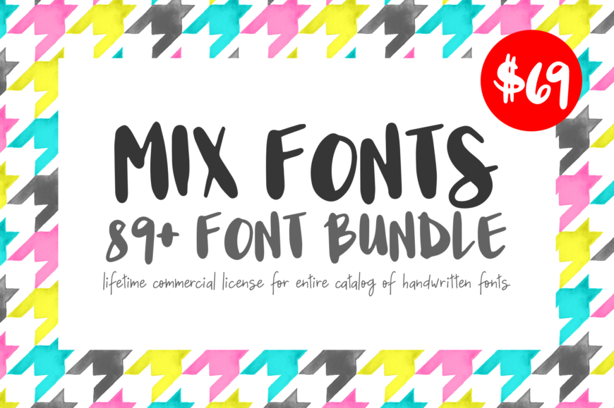 Mix Fonts - Entire Handwritten Font Collection
