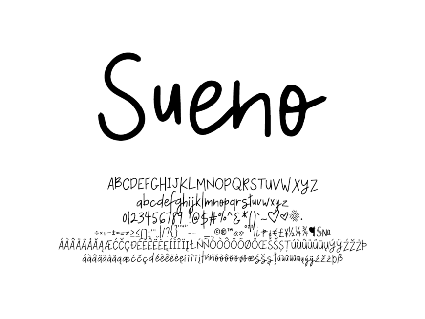 Mix Sueno - Handwritten Fonts by Mikko Sumulong