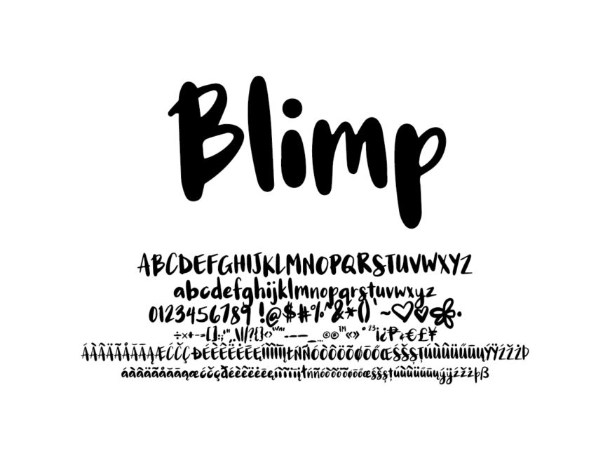 Mix Blimp - Handwritten Fonts by Mikko Sumulong