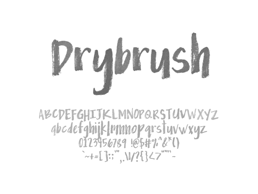 Mix Drybrush - Handwritten Fonts by Mikko Sumulong