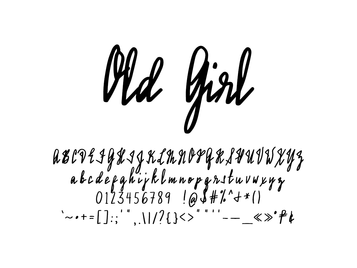 pretty handwriting alphabet